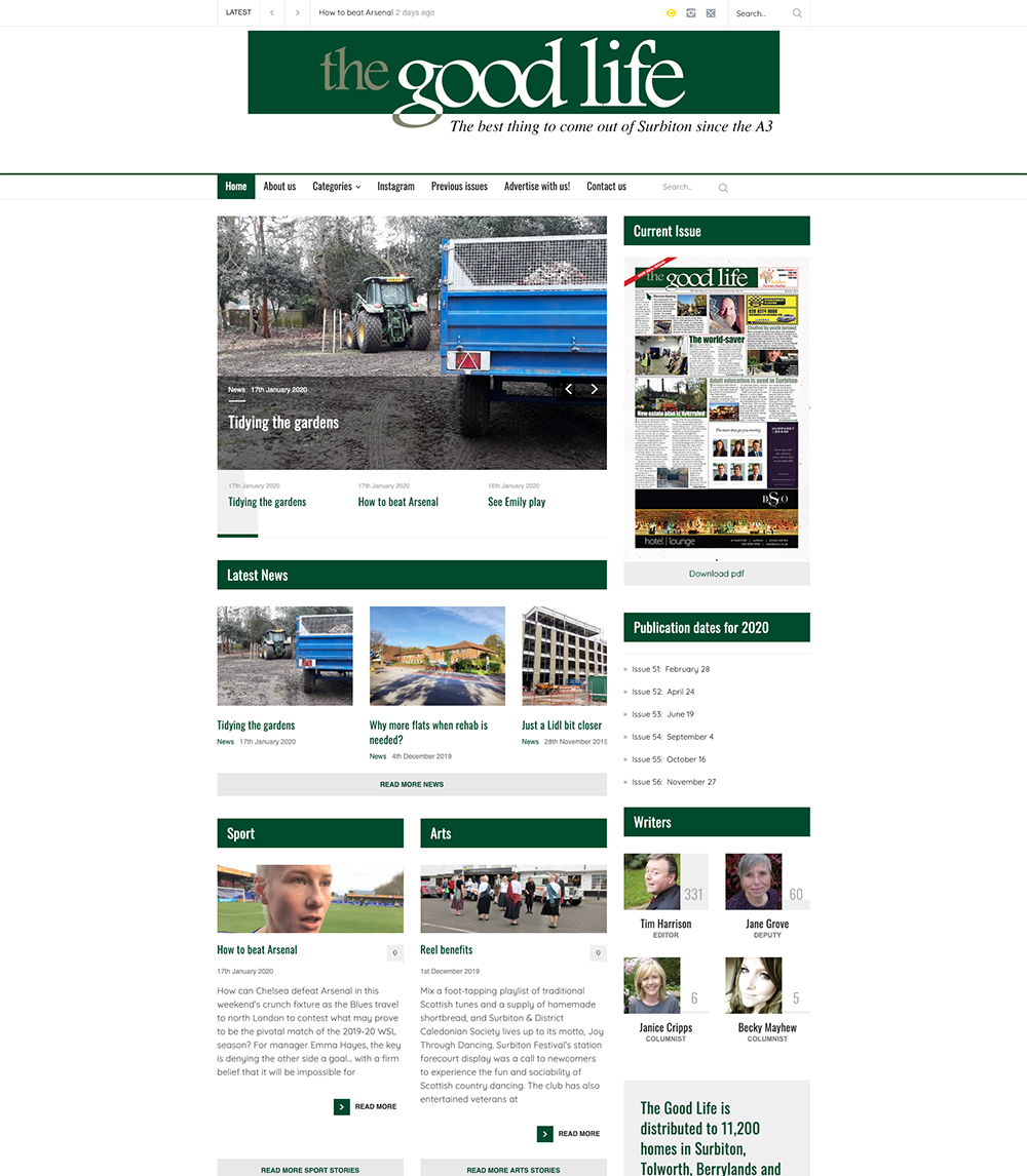 The Good Life Surbiton redesigned