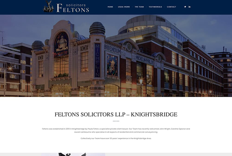 Felton Solicitors london website development