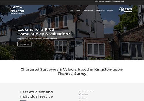 Prescott Surveyors website