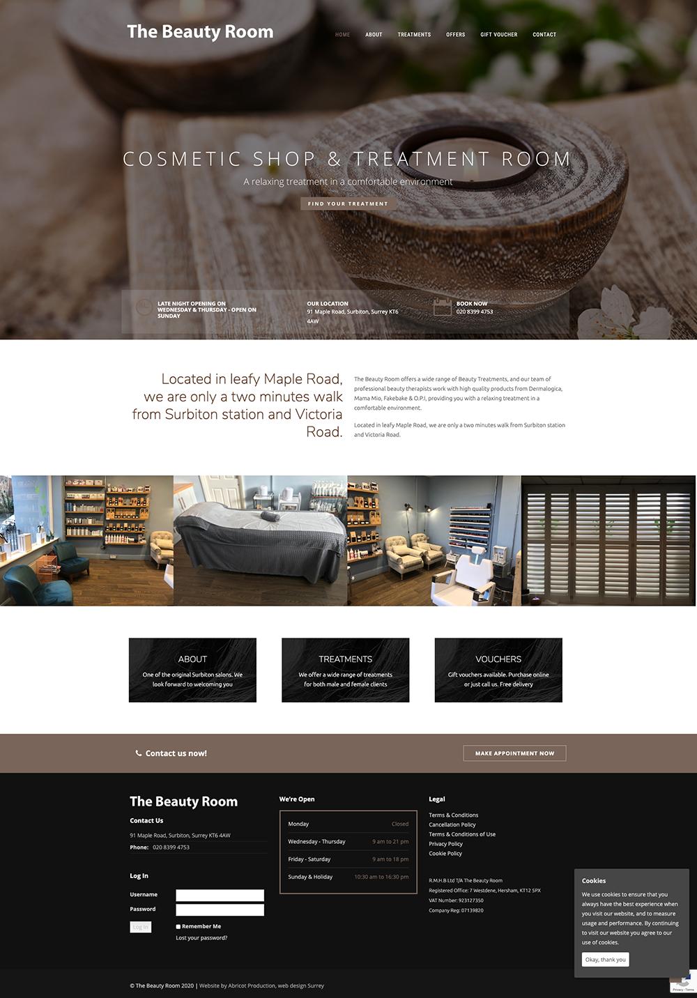 The Beauty Room website