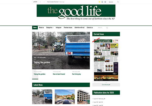 The Good Life Surbiton, Surrey web design