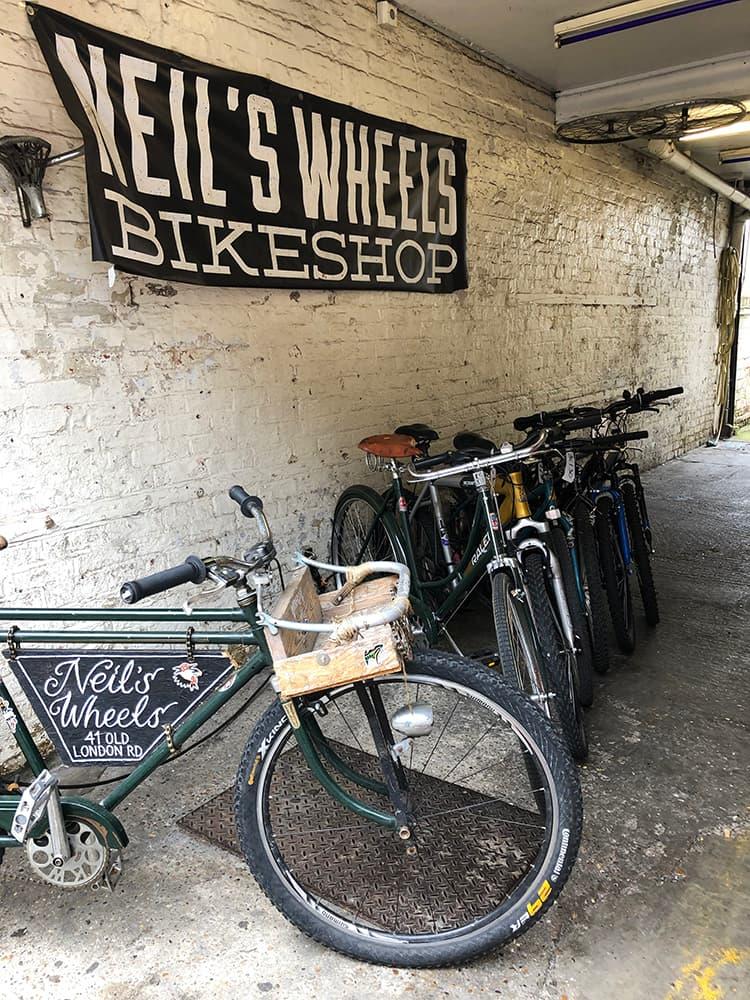 Neil's wheels shop in Kingston