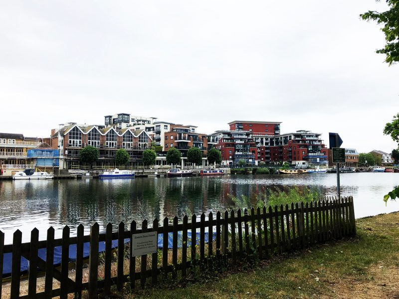 Kingston view from the other side of the river