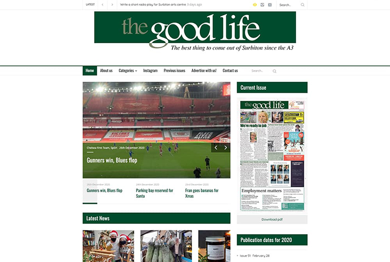 The Good Life Magazine Surbiton Website