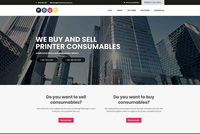 Printer Solutions website