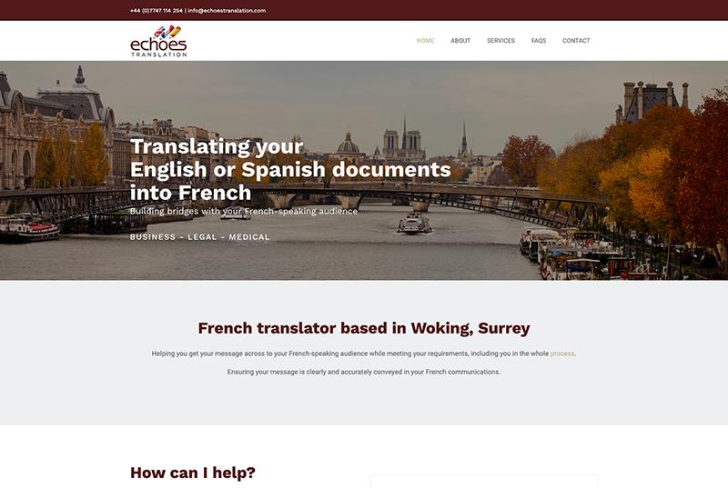 echoes translation website - Woking