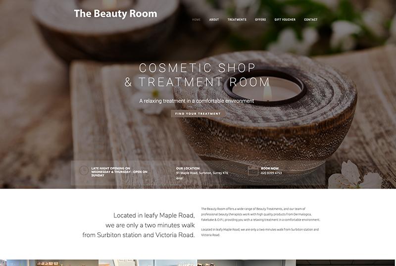 the beauty room surbiton website